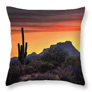 As The Sun Sets On Red Mountain  Throw Pillow