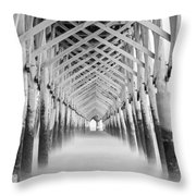 As The Water Fades Grayscale Throw Pillow