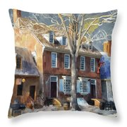 As Winter Melts Into Spring Throw Pillow