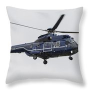 As332 Super Puma Helicopter Throw Pillow