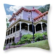 Asa Packer Mansion Throw Pillow