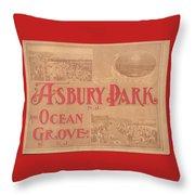 Asbury Park And Ocean Grove Throw Pillow
