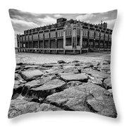 Asbury Park Rocks, Black And White Throw Pillow