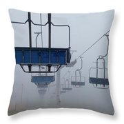 Ascent From The Mist Throw Pillow