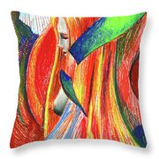 Ascent Of Water Throw Pillow