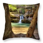 Hocking Hills Waterfall Throw Pillow