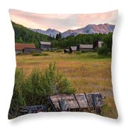 Ashcroft Ghost Town Throw Pillow
