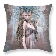Ashen Queen Of The Mountain 2 Throw Pillow