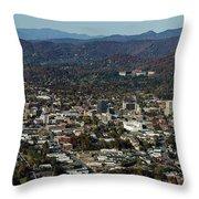 Asheville, City, Downtown, Nc, North Carolina, Mountains, Mountains, Real Estate, Blue Ridge Mountai Throw Pillow