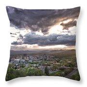 Asheville Nc Throw Pillow
