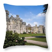 Ashford Castle, County Mayo, Ireland Throw Pillow