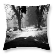 Ashland Cemetery Throw Pillow