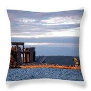 Ashland Ore Dock At Sunset Throw Pillow