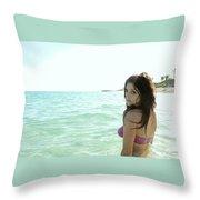 Ashley Greene Throw Pillow