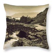 Ashness Bridge Cumbria England Throw Pillow