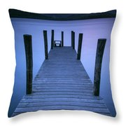 Ashness Jetty, Derwentwater, England Throw Pillow