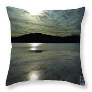 Ashokan Sunset Photograph Throw Pillow