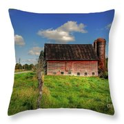 Ashtabula County Barn Throw Pillow