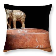 Ashtray With Elefant Throw Pillow
