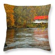 Ashuelot Bridge Throw Pillow by Jon Holiday