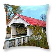 Ashuelot Covered Bridge Throw Pillow