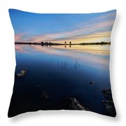 Ashurst Lake Sunrise Throw Pillow