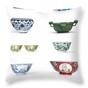 Asian Art Chinese Pottery - Bowls Throw Pillow
