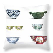 Asian Art Chinese Pottery Throw Pillow
