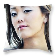 Asian Art Throw Pillow
