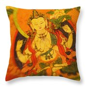 Asian Art Textile Throw Pillow