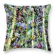Asian Bamboo Forest Throw Pillow