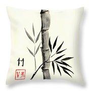 Asian Bamboo Throw Pillow