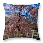 Asian Cherry In Blossom Throw Pillow