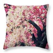 Asian Cherry Vignette Throw Pillow