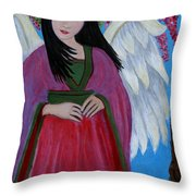 Asian Earthangel Tuyen Throw Pillow