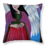 Asian Earthangel Tuyen Throw Pillow