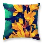 Asian Flower Throw Pillow