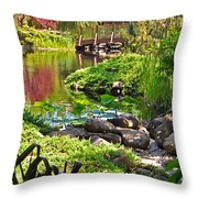 Asian Garden 3 Throw Pillow