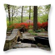 Asian Garden Throw Pillow