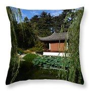Asian House. Throw Pillow