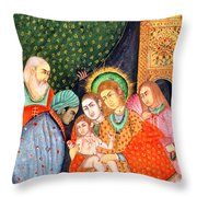 Asian Nativity Throw Pillow