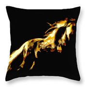 Asian Stallion Throw Pillow
