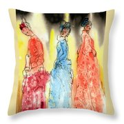 Asian Three Throw Pillow