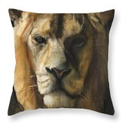 Asiatic Lion Throw Pillow