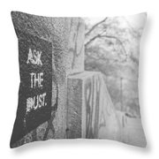 Ask The Dust Throw Pillow