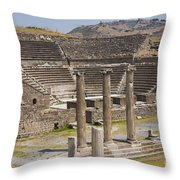 Asklepion Columns And Amphitheatre Throw Pillow