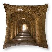Asklepios Temple Passageway Throw Pillow