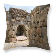 Asklepios Temple Ruins Throw Pillow