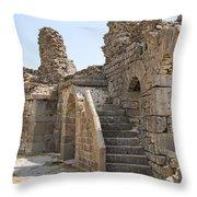 Asklepios Temple Ruins View 2 Throw Pillow