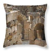 Asklepios Temple Ruins View 3 Throw Pillow